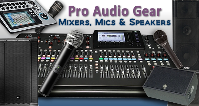 Pro Audio Gear Mixers Microphones Speakers