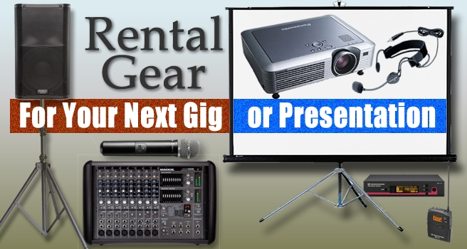 Presentation and Live Sound Rental Gear